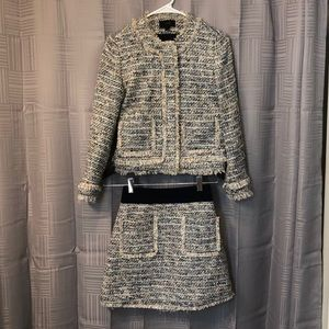 J. Crew Tweed Suit Jacket Skirt